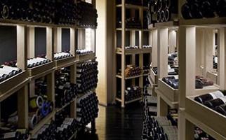 Admire the wine cellar