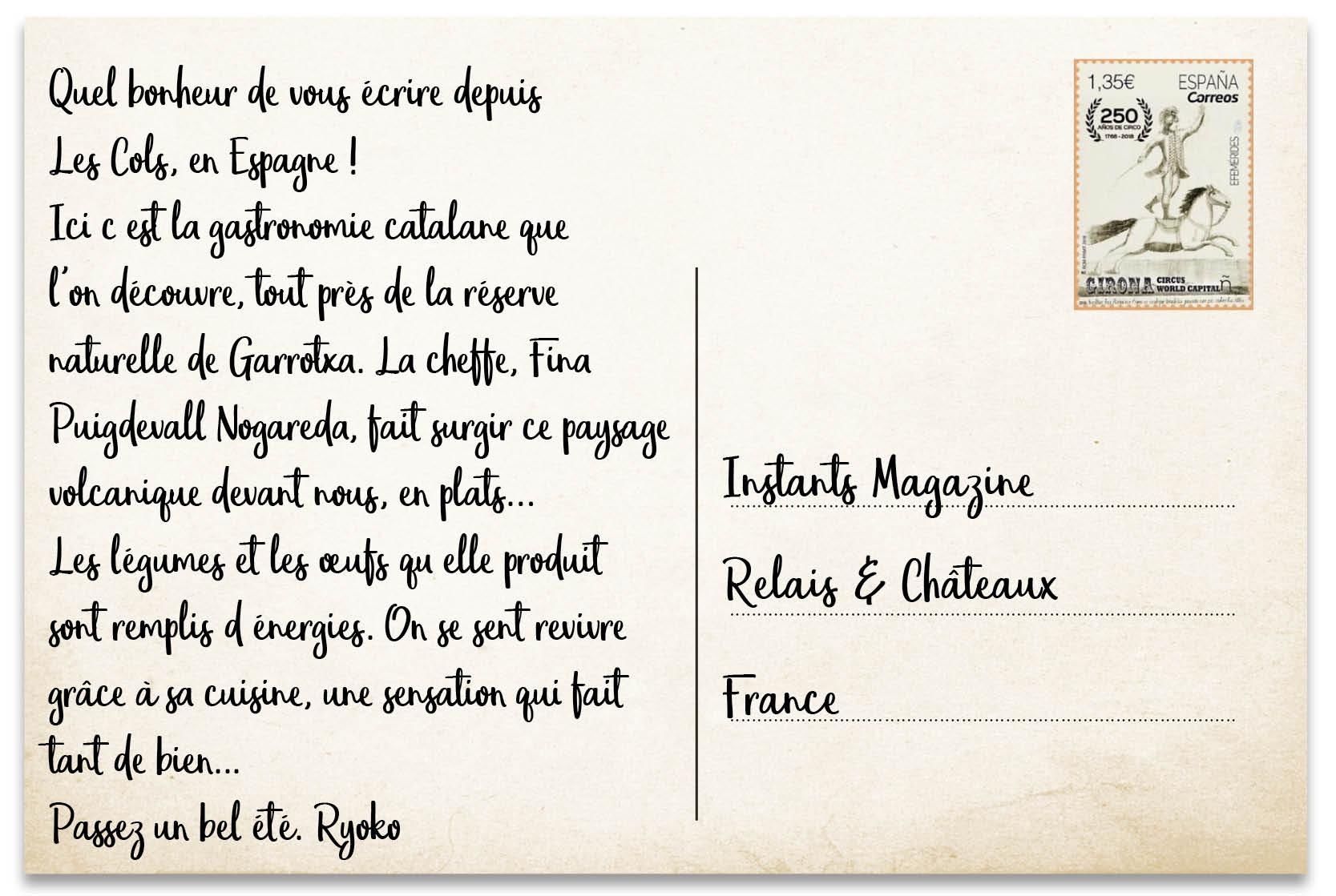 La Carte Postale De L Ete Par Ryoko Sekiguchi Le Magazine De Relais Chateaux