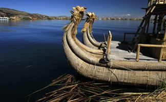 A boat trip on Lake Titicaca