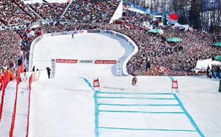 Visit the Kitzbühel downhill course