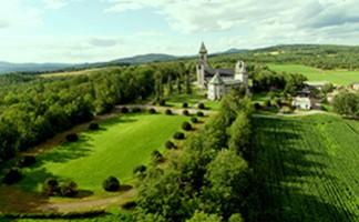 The abbey in Saint-Benoît-du-Lac