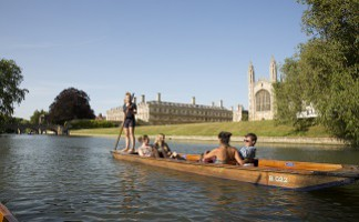 A punt along the Cam, Cambridge