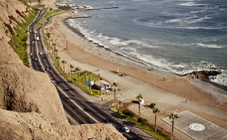 The sea front, Lima