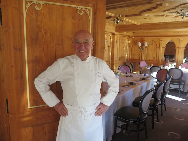 Photo du chef Michel Rochedy, Chabichou Courchevel