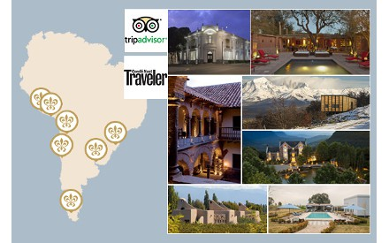 Condé Nast Traveler and TripAdvisor award South America
