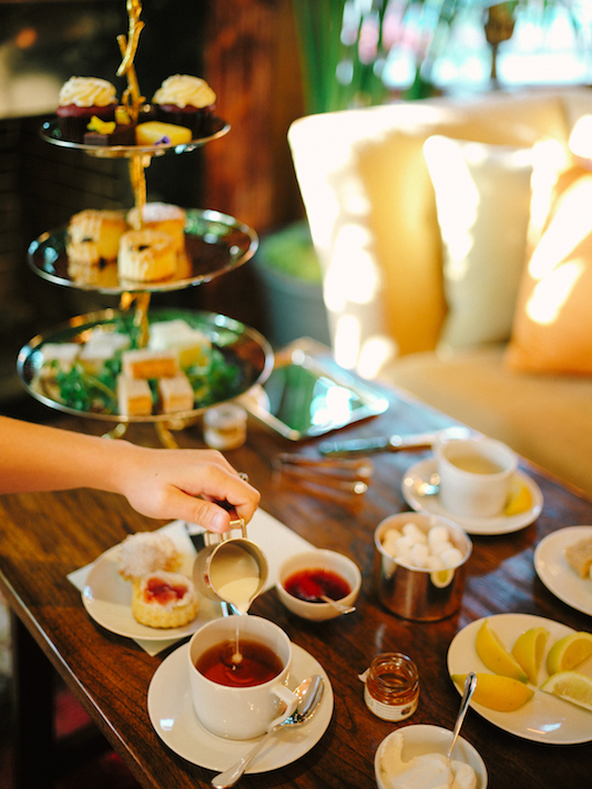 Tea time at the Mansion Ivy Hotel, Baltimore
