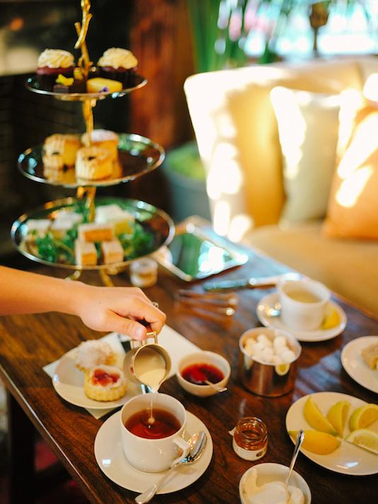 Prendre le thé au Manoir Ivy Hotel, Baltimore
