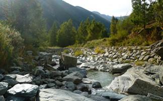 The waterfalls in Lillaz