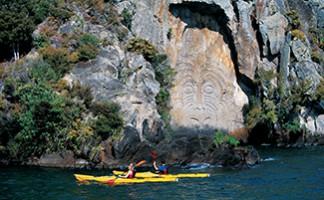 Freizeitvergnügen am Taupo-See und der Fluss Rongariro