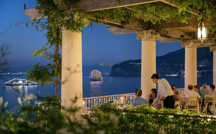 restaurant - La Pergola, Gourmet Restaurant On The Seafront, Sorrento (Italy