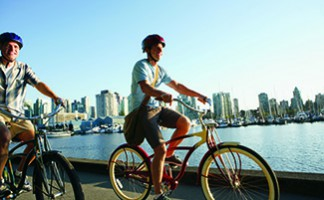 Biking along the seawall, Vancouver